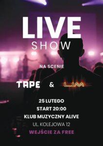TAPE & LOST IN MOTION @ KLUB ALIVE | Wrocław | Województwo dolnośląskie | Polska