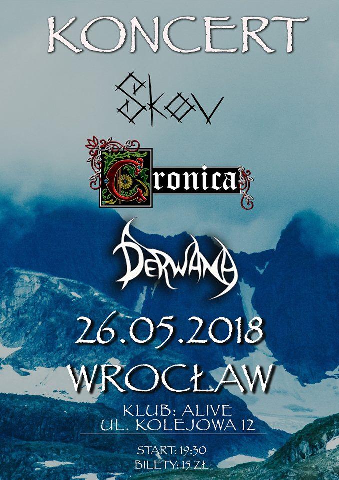 Cronica + Derwana + Skøv @ Kolejowa 12 | Wrocław | Województwo dolnośląskie | Polska