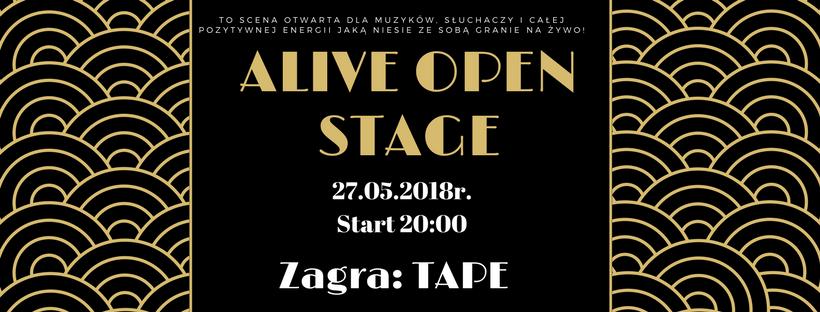ALIVE OPEN STAGE: Tape @ Kolejowa 12 | Wrocław | Województwo dolnośląskie | Polska