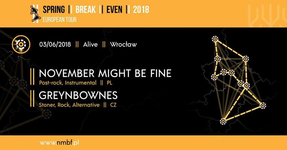 November Might Be Fine & Greynbownes @ Kolejowa 12   Wrocław   Województwo dolnośląskie   Polska